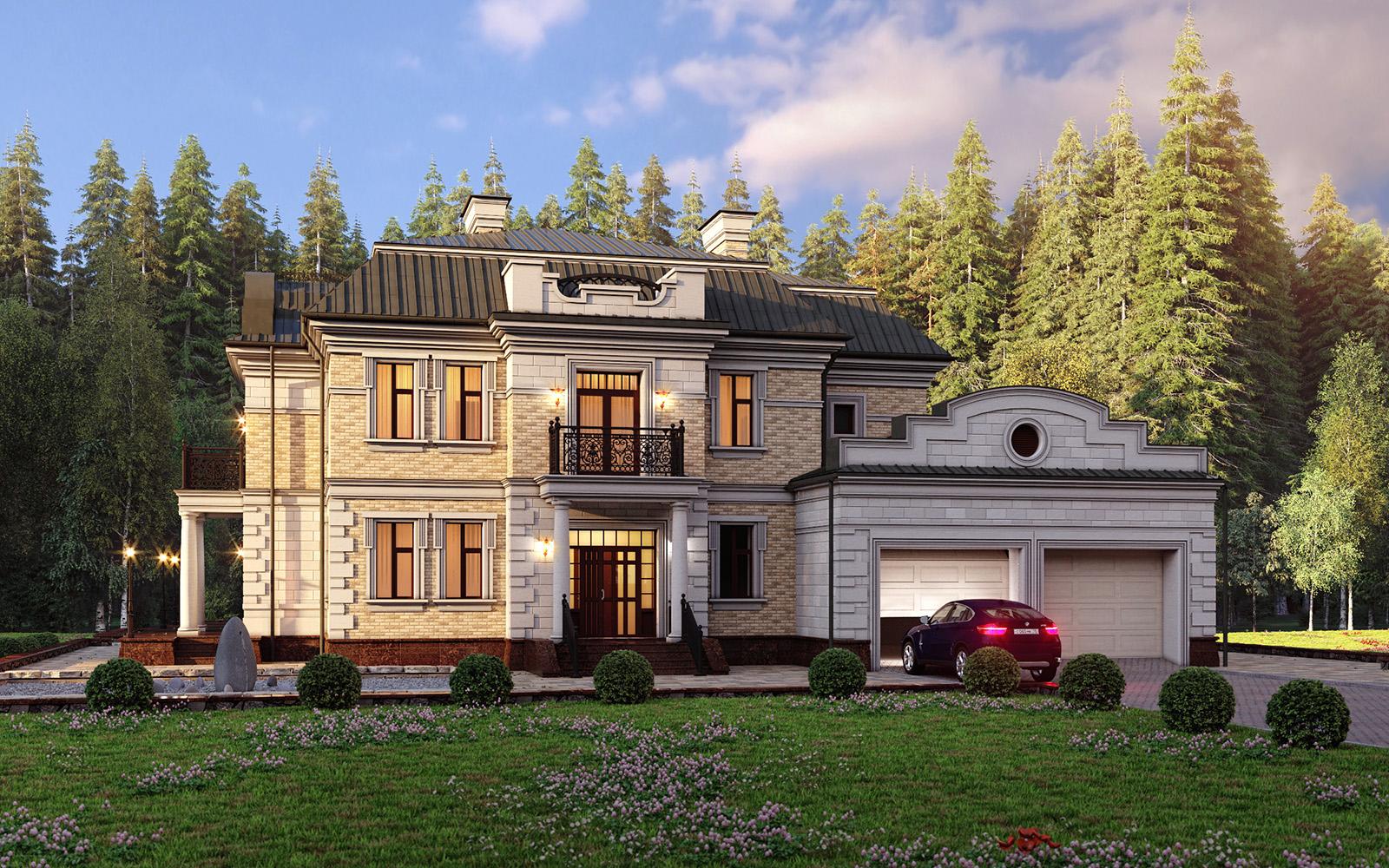 Проекты больших домов вилл особняков фото