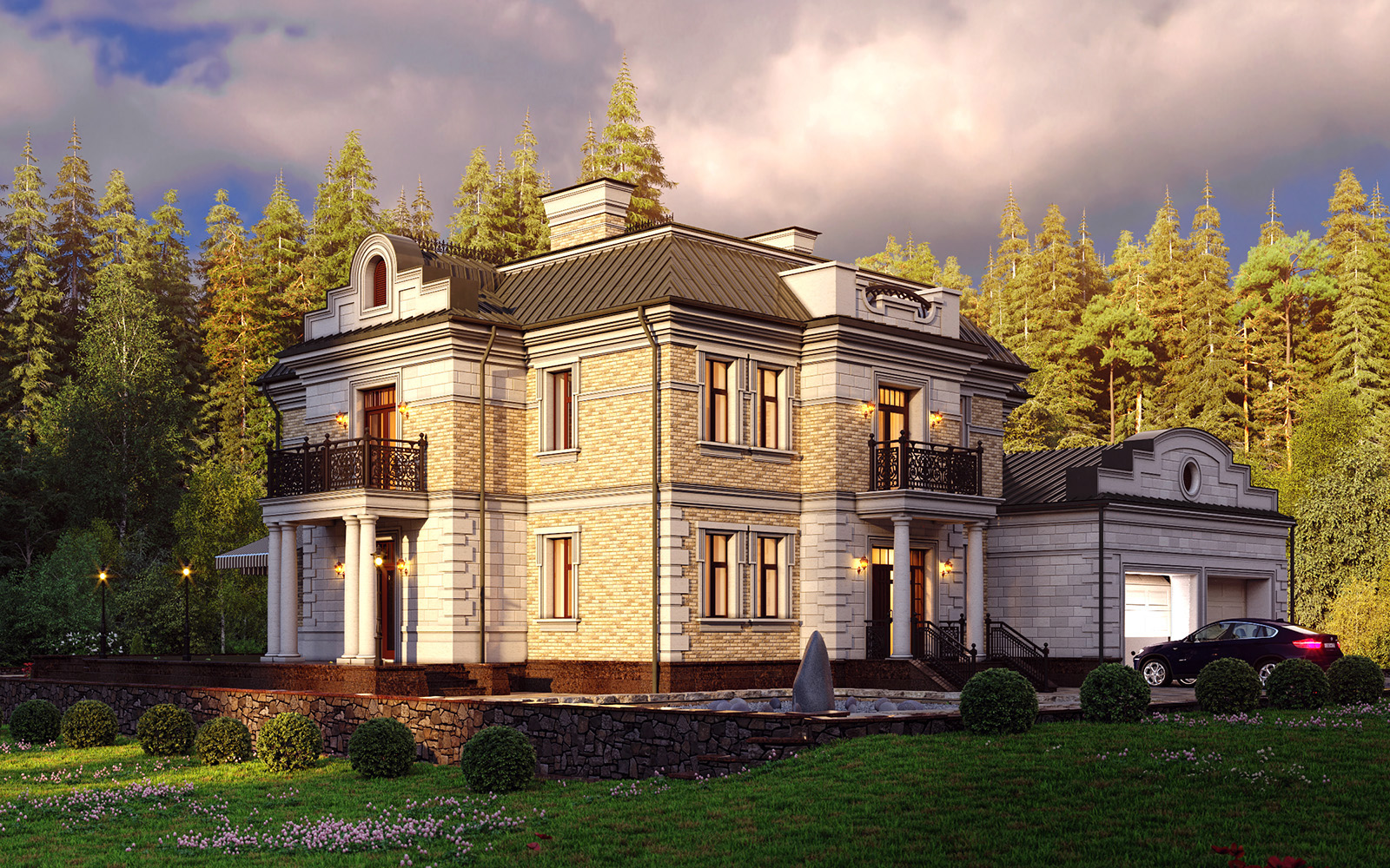 небесным гигантом проект дома миллениум с отделкой фото полученную